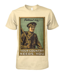 Follow Me Infantry- Vintage Poster Tee