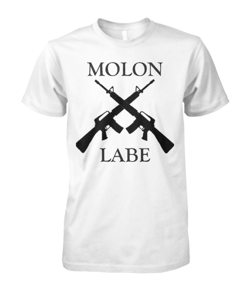 Molon Labe Crossed Rifles Tee