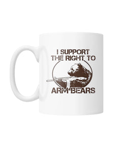 I Support the Right to Arm Bears White Coffee Mug
