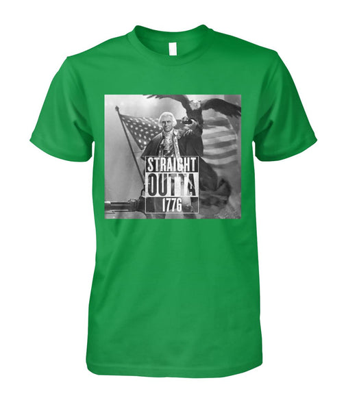 Straight Outta 1776 George Washington T-shirt | Unisex Cotton Tee