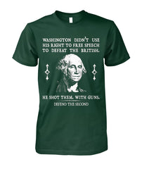 Defend The Second George Washington Tee