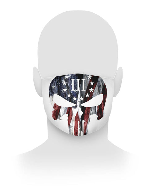 American Flag Punisher Skull Face Mask