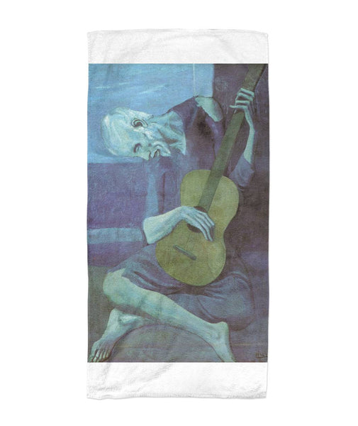 The Old Guitarist - Picasso Art Beach Towel 30x60