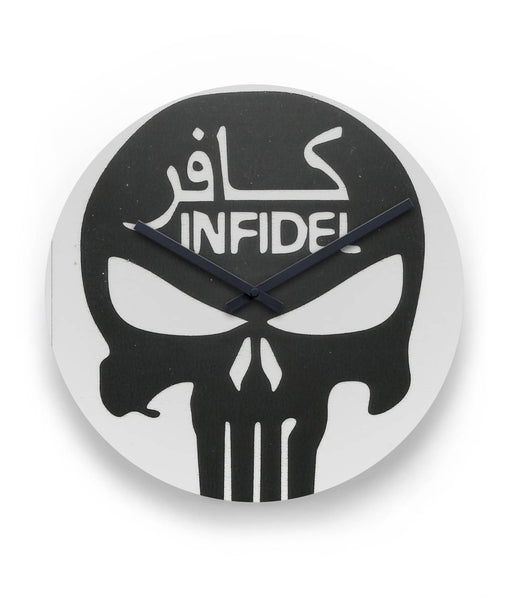 "Punisher Infidel Clock 11"" Round Wall Clock"