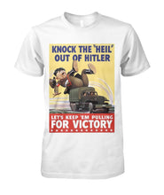 "Load image into Gallery viewer, Knock The ""Heil"" Out of Hitler Vintage Poster Tee"