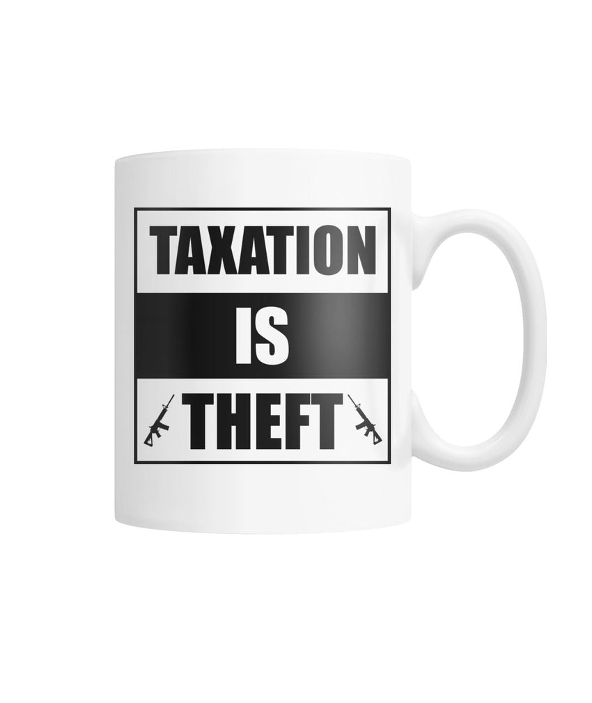 Black Rifle Company - Taxation Is Theft Coffee Mug White Coffee Mug