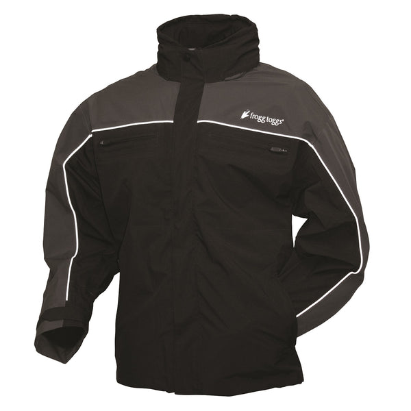 Frogg Toggs Pilot Illuminator Jacket Black-Charcoal Gray-2XL