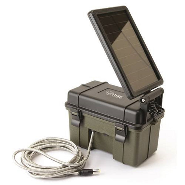 Stealth Cam 12V Battery Box with Solar Panel