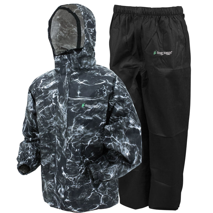 Frogg Toggs All Sport Rain Suit Blacktip Black Medium