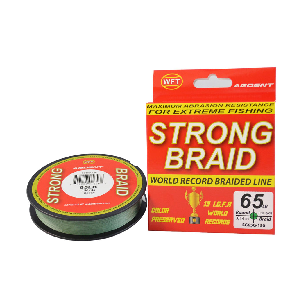 Ardent Strong Braid Fishing Line - Green 65  150 yd