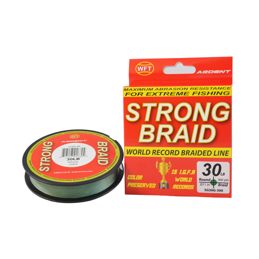 Ardent Strong Braid Fishing Line - Green 30  300 yd