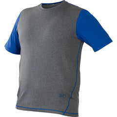 Rawlings Hurler Performance Shrt Slv Shirt Royal XXX-Large