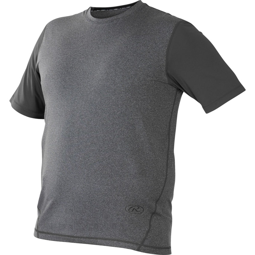 Rawlings Hurler Performance Shrt Slv Shirt Dark Gray Large