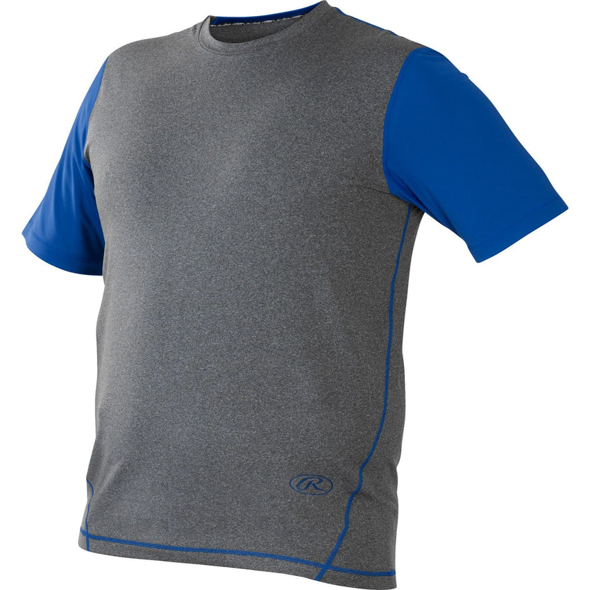 Rawlings Hurler Performance Shrt Slv Shirt Royal Large