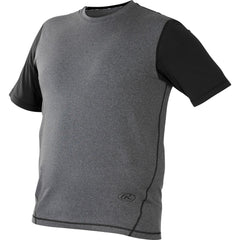 Rawlings Hurler Performance Shrt Slv Shirt Black Small