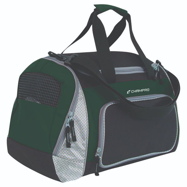 Champro Pro Plus Gear Bag 24 in x 14 in x 12 in Blk For Grn