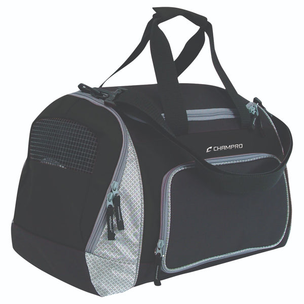 Champro Pro Plus Gear Bag 24 in x 14 in x 12 in Black Grey