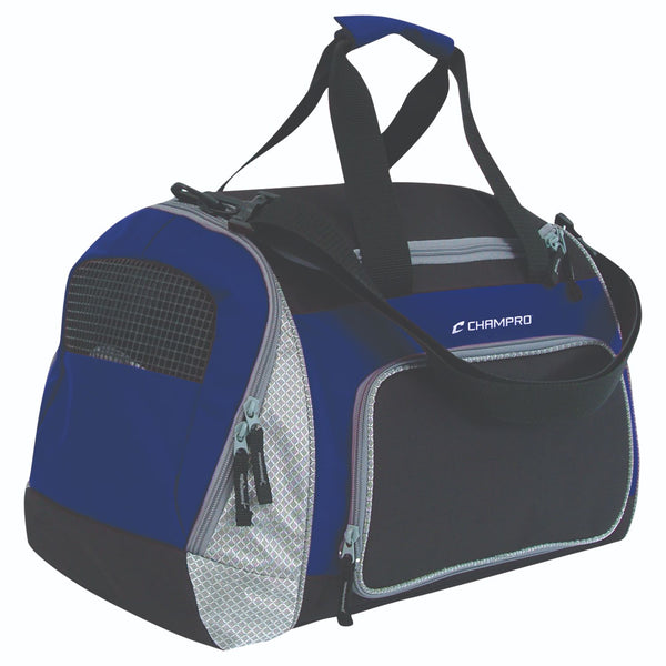 Champro Pro Plus Gear Bag 24 in x 14 in x 12 in Black Royal