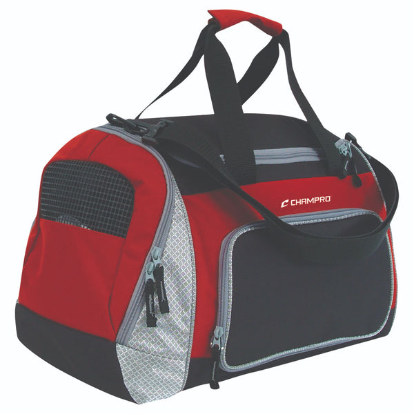 Champro Pro Plus Gear Bag 24 in x 14 in x 12 in Blk Scarlet