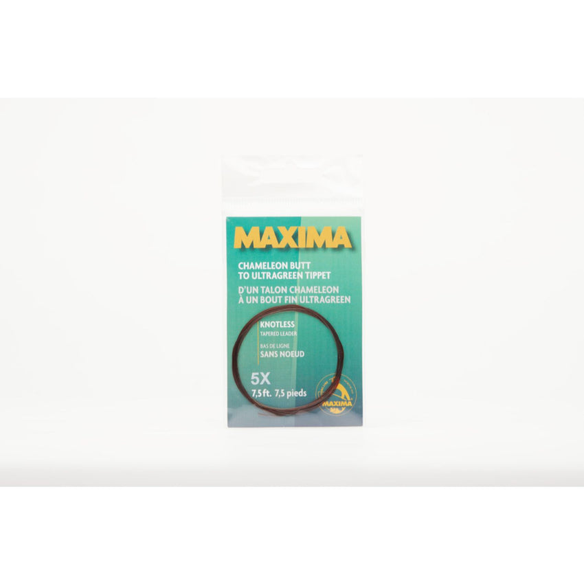 Maxima Knotless Tapered Leader 5x  7.5 ft Clear