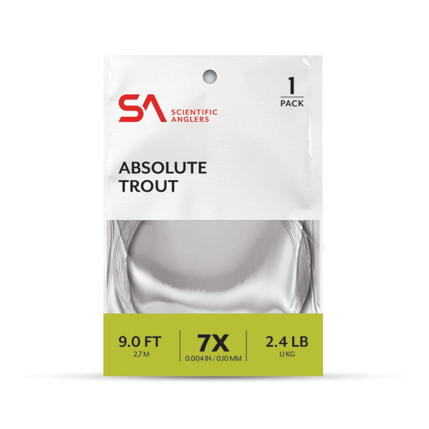 Scientific Anglers Absolute Trout 9 ft 4X Clear Leader