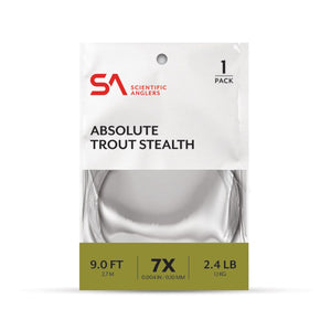 Scientific Anglers Absolute Trout Stealth 9 ft 3X Leader