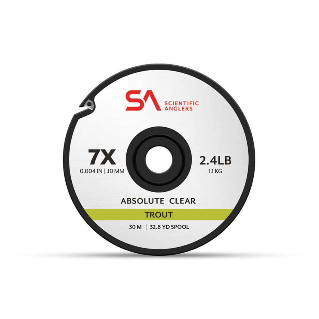 Scientific Anglers Absolute Trout Tippet 30M 1X Clear