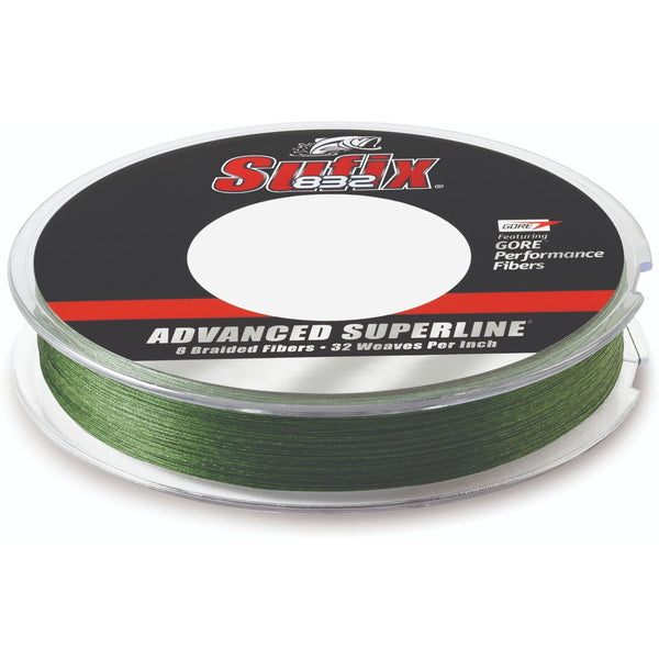 Sufix Advanced Superline 832 Braid 6 lb Low-Vis Green 300 yd