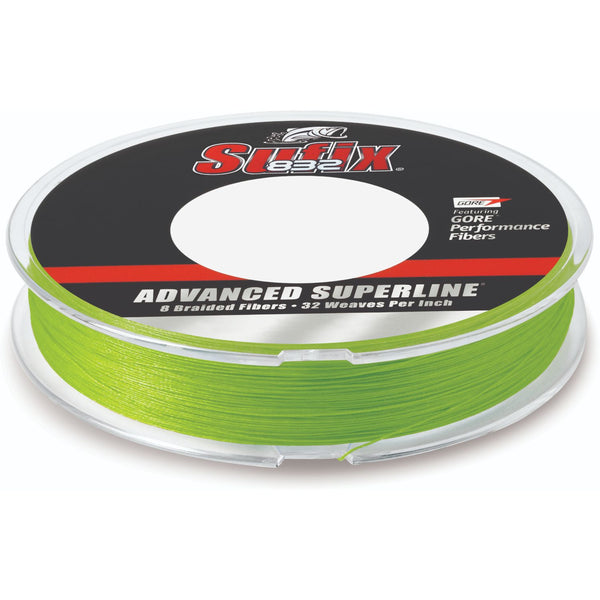 Sufix Advanced Superline 832 Braid 30 lb Neon Lime 300 yds