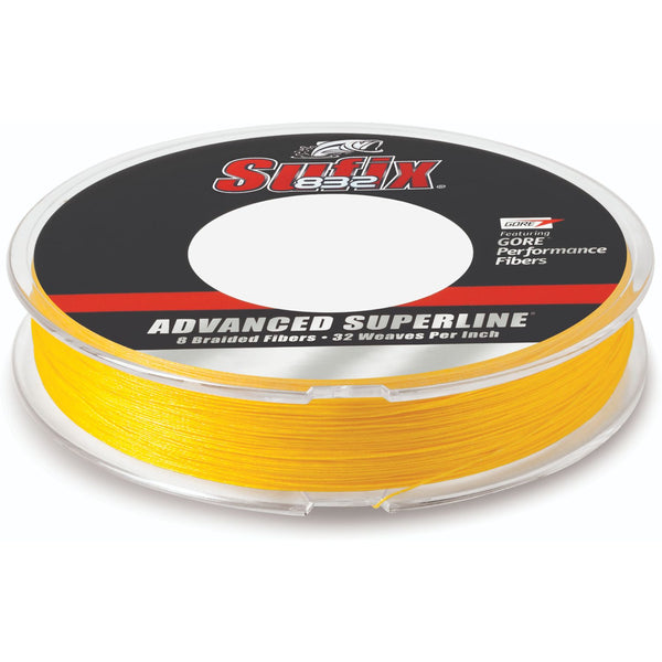 Sufix Advanced Superline 832 Braid 80 lb HiVis Yellow 300 yd
