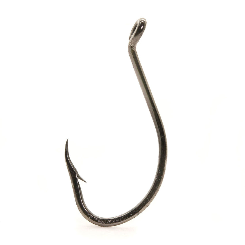 Mustad BeakOctopus 1X Strong Rev UpEye-BlackNickel Sz2 10 Ct