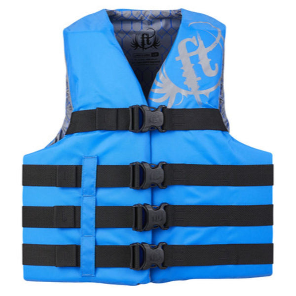 Full Throttle Adult Life Jacket Nylon 4XL-7XL-Blue