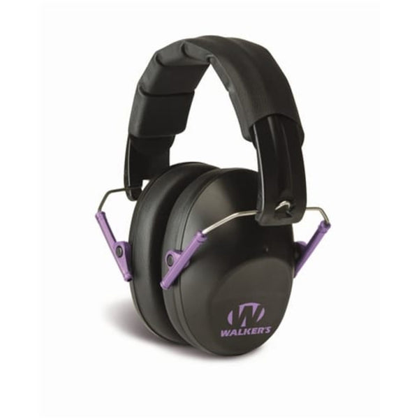 Walkers Low Profile Black with Purple Logo Muff