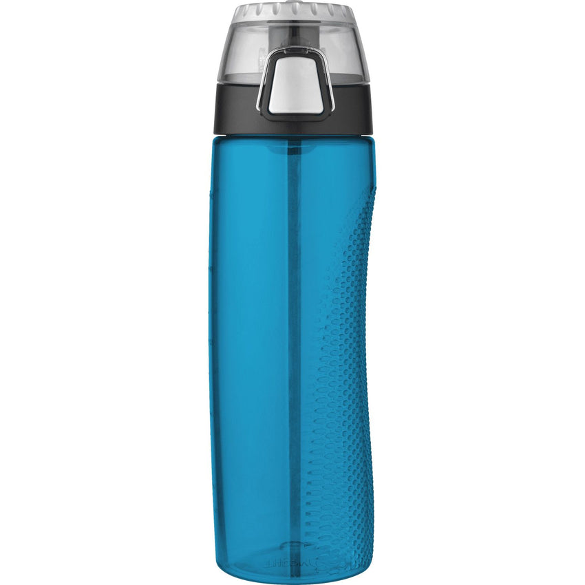 Thermos 24oz BPA Free Plastic Hydration Bottle w Meter Blue