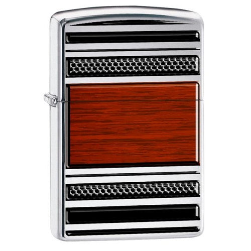 Zippo HP Chrome Pipe Wood Lighter