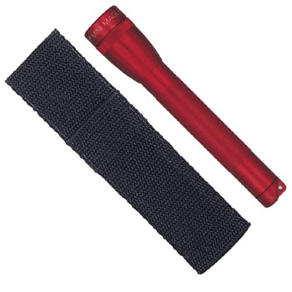 Maglite AA Mini Flashlight and Holster Combo Pack Red