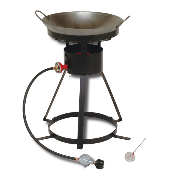 King Kooker  24WC-24in Outdoor Cooker w Steel Wok-2 Utensils