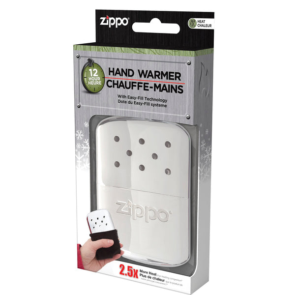 Zippo Refillable Hand Warmer 12 Hour High Polish Chrome