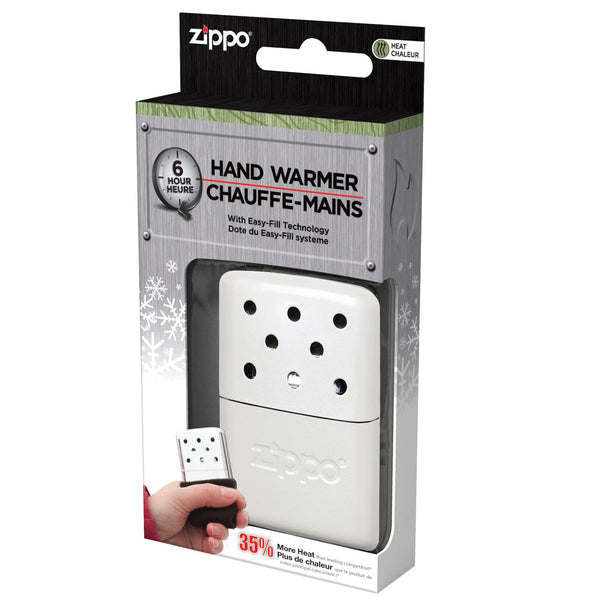 Zippo Refillable Hand Warmer 6 Hour Matte Pearl