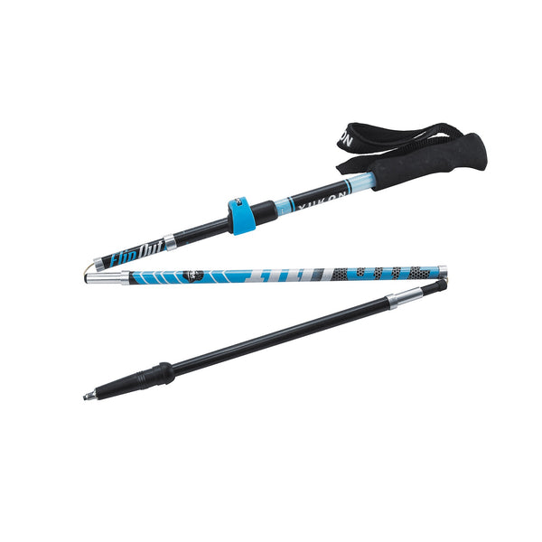 YC FlipOut Trekking Pole - Carbon-Blue-Gray