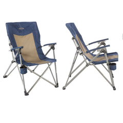 Kamp-Rite 3 Position Hard Arm Reclining Chair w Cup Holder