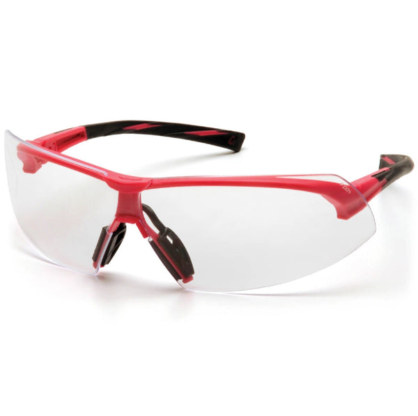 Pyramex Onix Eye Protection Pink Frame Clear Lens