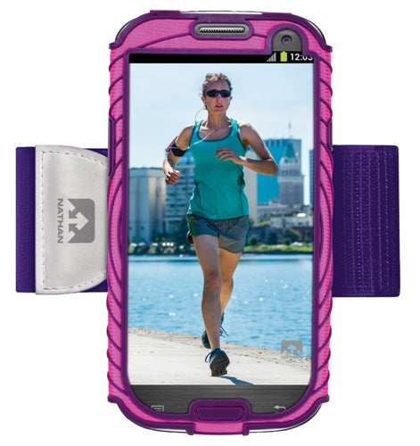 Nathan Sonic Boom Armband For Samsung Galaxy S3 Pink-Purple