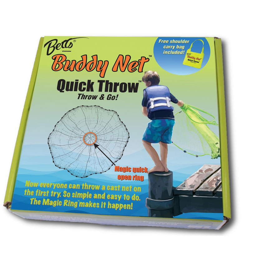 Betts Buddy Quick Throw Net 3.5ft 0.375in mesh Chartreuse