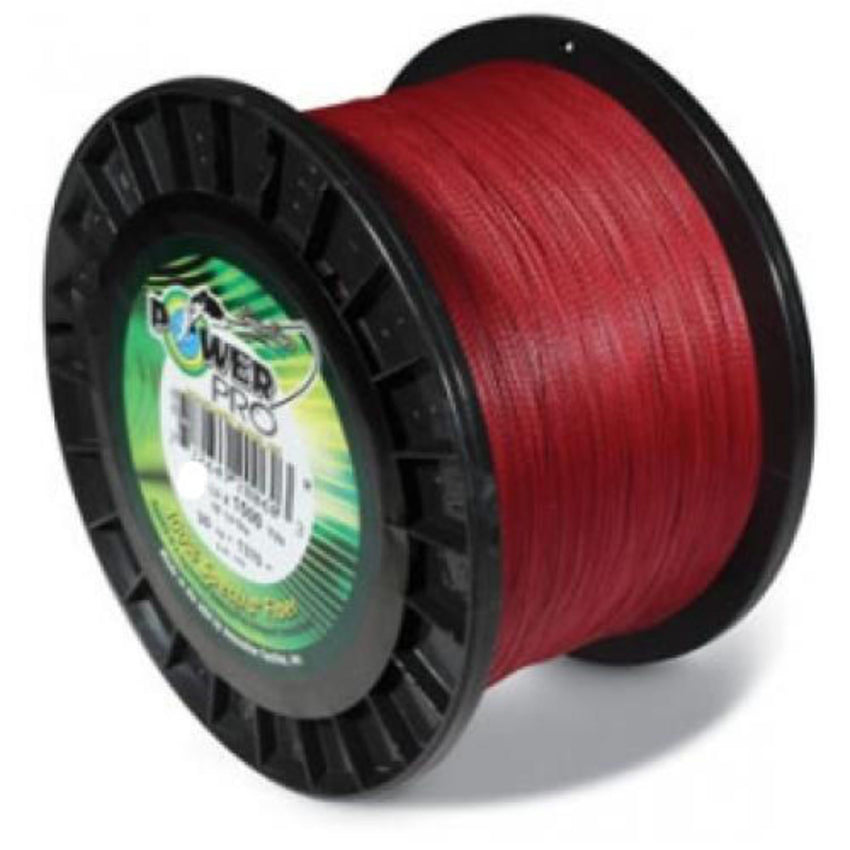 POWERPRO BRAIDED LINE 15LB 1500 YARDS RED 21100151500V