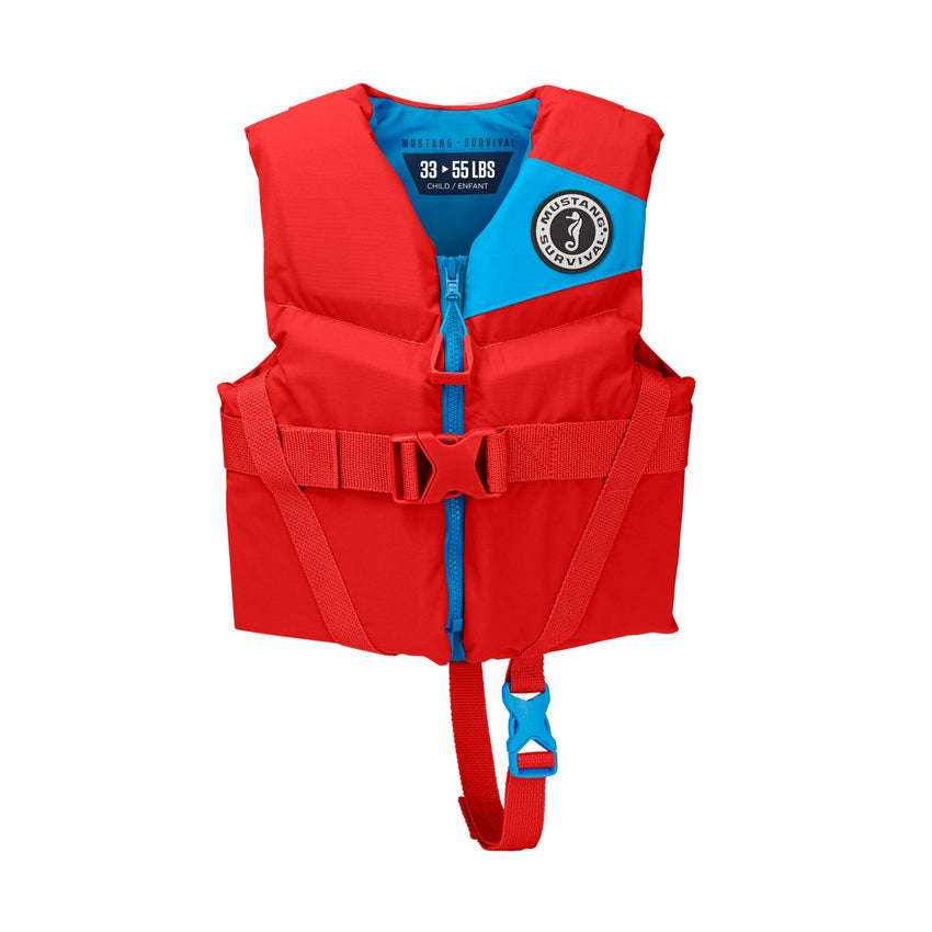 Mustang Survival Rev Child Foam Vest Imperial Red 30-50 LBS