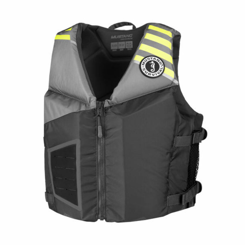 Mustang Survival Rev Young Adult Foam Vest Gray 90 Plus LBS