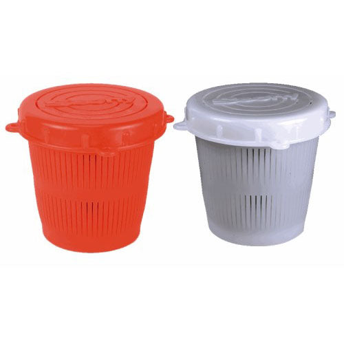 Scotty Vented Crab Diner Bait Jar c-w Lid 1-2 Litre  Red