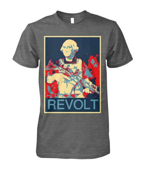Washington with Gun Revolt Political Poster Tee