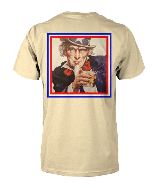 Two Testicles Tactical Uncle Sam w/ Scotch Tee (back)